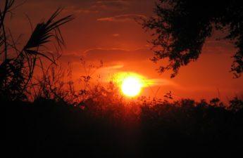 Orange sunset in Labelle Florida